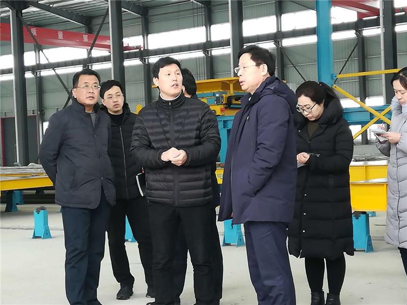 朱台镇党委孙守强书记指导项目建设
